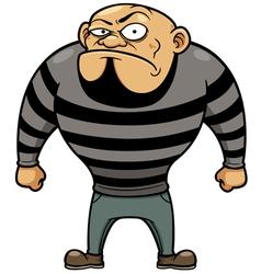 Cartoon prisoner vector