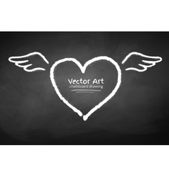 Chalk drawn heart vector image vector image
