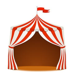 Circus tent on white backgound vector image vector image