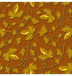 contour autumn gold leaf seamless vector image