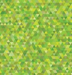 green triangles pattern vector image vector image
