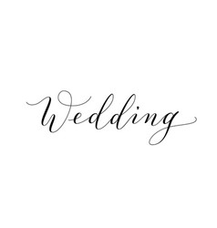 wedding text hand written custom calligraphy vector image vector image