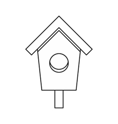 Birdhouse nesting box icon outline style vector image