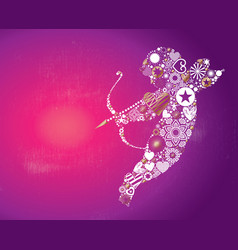cupid valentines day card vector image vector image