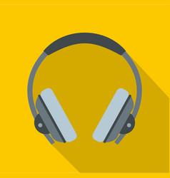 headphone icon flat style vector image