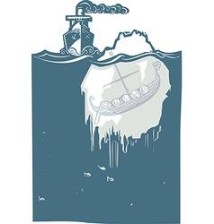 Iceberg viking vector