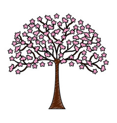 Japanese tree plant icon vector