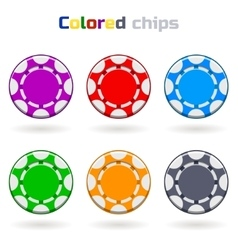 Poker Chips in Colors vector image