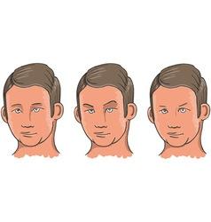 Three Facial Expressions vector image vector image