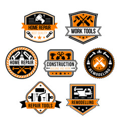 work tools for home repair icons set vector image vector image