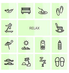 14 relax icons vector