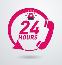 24 hour emergency poster vector