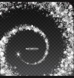 3d swirling snow effect vector