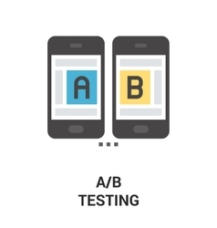 A b testing icon vector