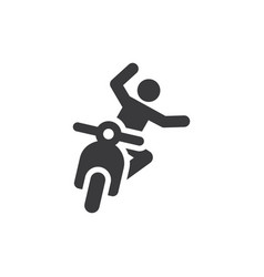 Accident icon vector