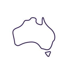 Australia covid19 variant rgb color icon vector