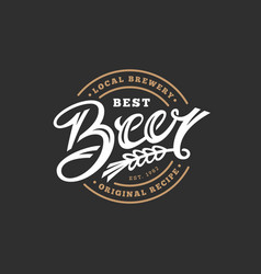 beer lettering vector image