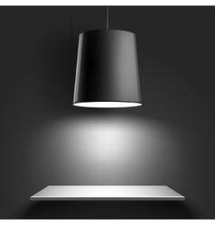Black ceiling lamp vector