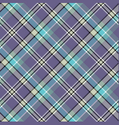 Blue cold color tartan seamless fabric texture vector