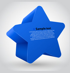 blue star with text vector image vector image