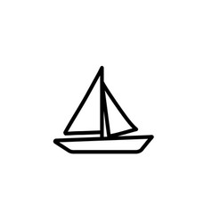 boat icon thin line black vector image
