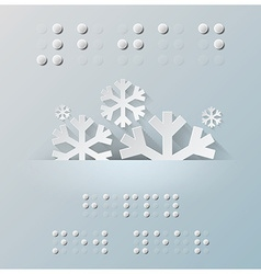 Braille Alphabet New Year Background With Paper vector image