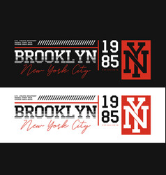 Brooklyn nyc athletic typography for t-shirt vector