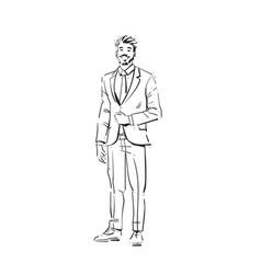 business man executive concept businessman full vector image