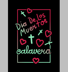 Calavera greeting frame vector