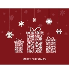 Christmas decoration with gift boxes and vector image