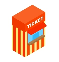 Circus ticketing isometric 3d icon vector
