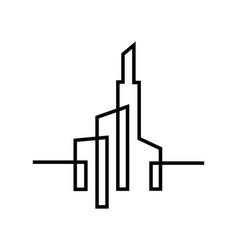 city silhouette flat design vector image