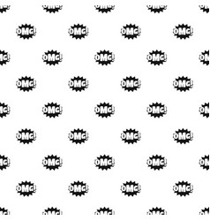 comic boom omg pattern seamless vector image