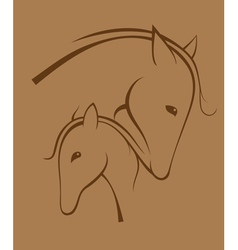 Contour of horses vector image