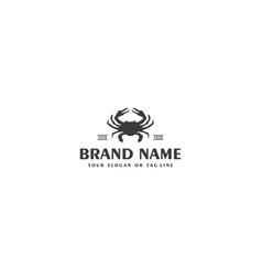 Creative logo design crab template vector