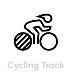Cycling track sport icons vector