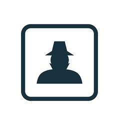 Detective icon rounded squares button vector