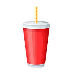 disposable paper beverage cup templates set vector image