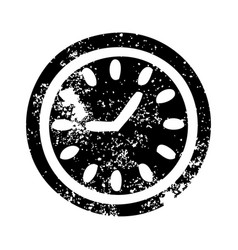 distressed symbol wall clock vector image