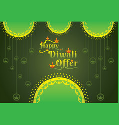 diwali festival offer poster design vector image
