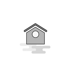 dog house web icon flat line filled gray icon vector image