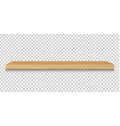 emply wood shelf vector image