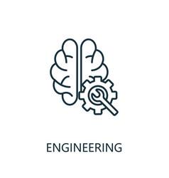 engineering thin line icon creative simple design vector image