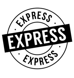 express stamp on white vector image