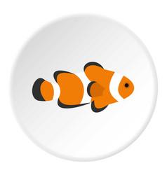 Fish clown icon circle vector