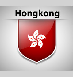 Flag icon design for hongkong vector