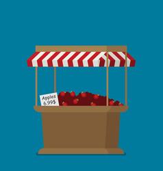 flat apples sale supermarket vector image