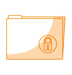 Folder with padlock icon vector