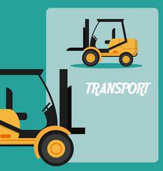 Forklift transport vehicle vector
