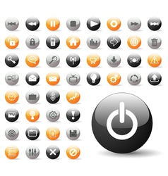Glossy icon set for web applications vector
